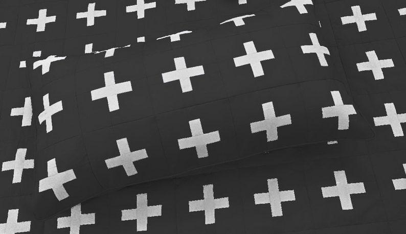Schweizer Kreuz Decke Schwarz Und Weiß Muster Winter Geschenk Etsy