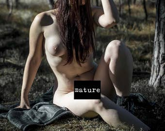 Fine art photography Artistic nude photo print Outdoor nude Naked in nature - The Spirit Protector - 03 - MATURE