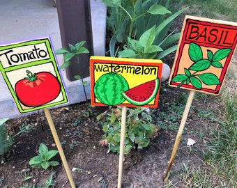 Hand-Painted GARDEN STAKES
