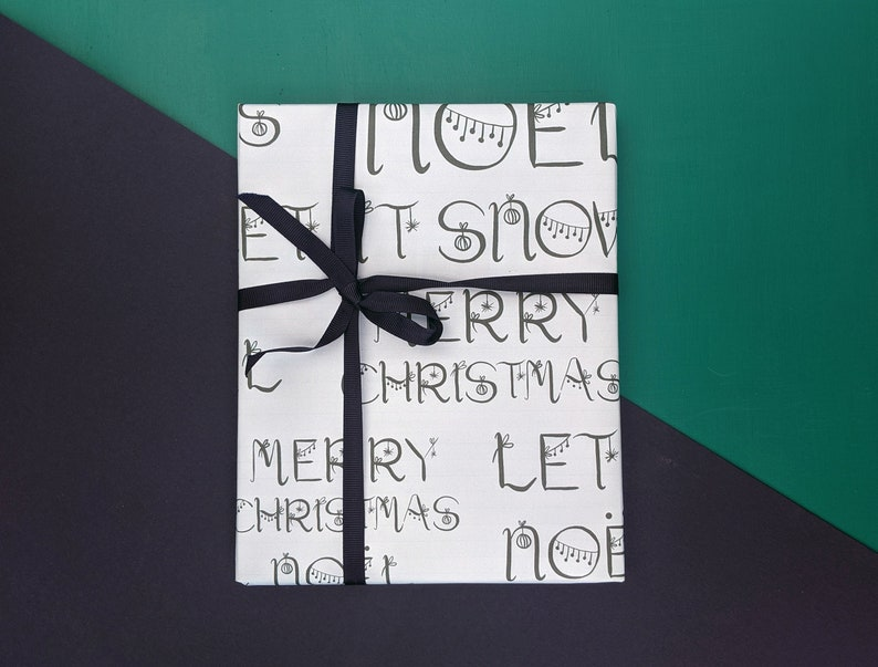 let it snow Christmas wrapping paper merry christmas noel
