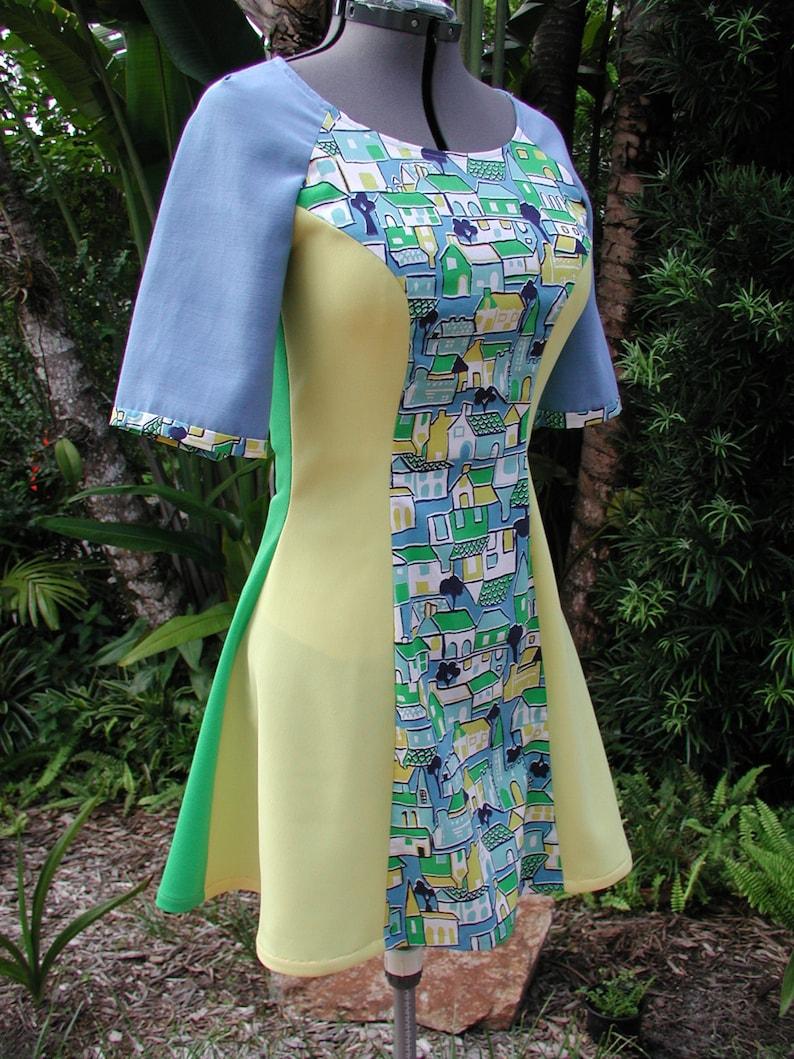 Yellow Dress Color Block Dress Maya Jocelyn Collections Original Dresses Colorful Dress Dresses for Twins Short Dress Easter Dresses