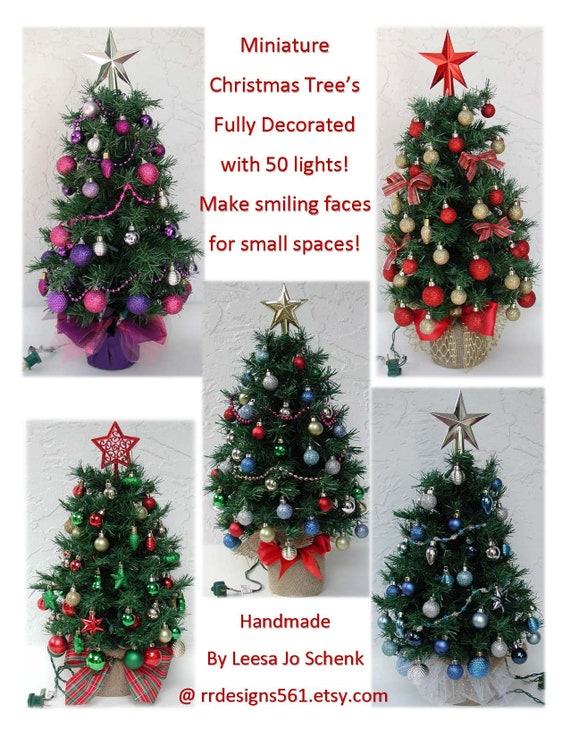 image 0 - Small Fully Decorated Christmas Trees