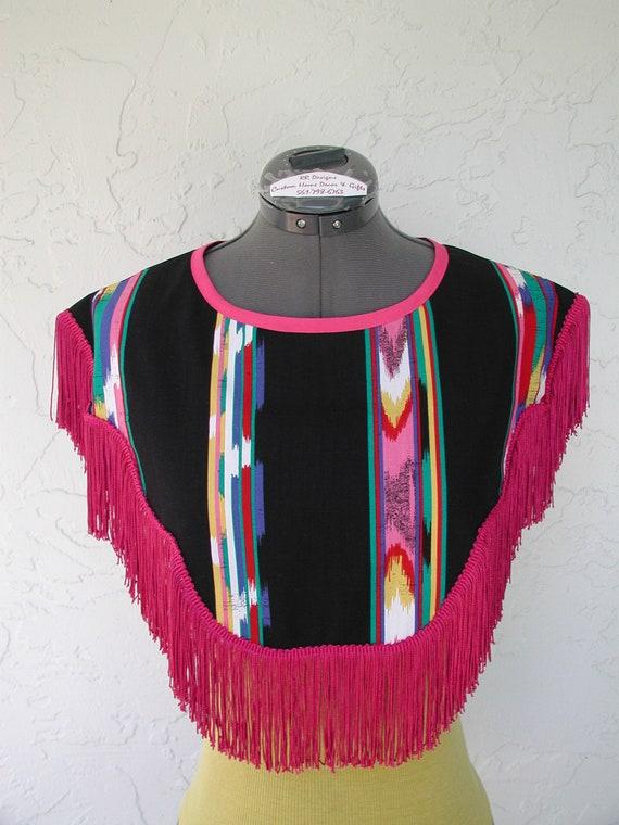 Western Neck Collars,Fringe Neck Collars,Western Dickie,Pullover Neck Bib,Fringe Dress Collar,Tank Top T-shirts,rrdesigns561,Leesa Jo Schenk