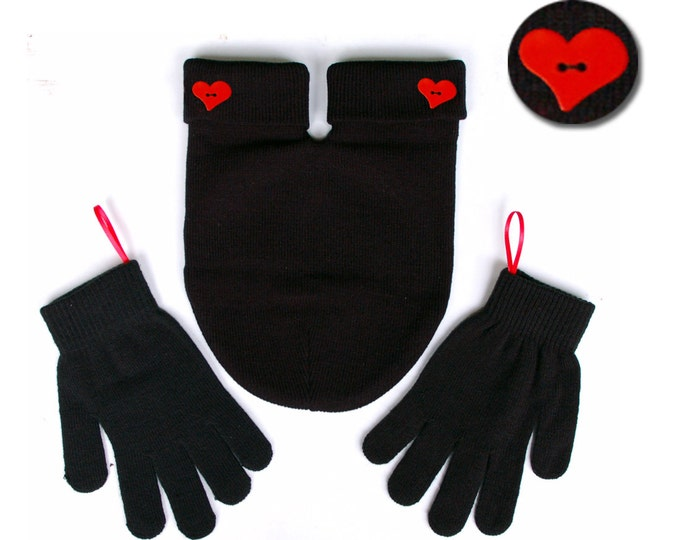 Romantic Christmas Gift for Couples. Gloves and Smitten Card Included. Share your mitten! FREE Shipping USA