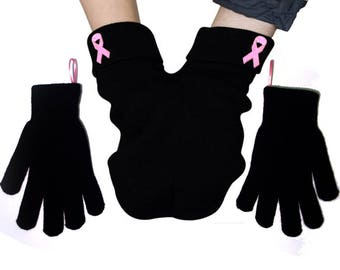 Shareable Mitten for Smitten Couples, Pink Ribbon, Gloves and Card Included. Share your mitten! FREE Shipping USA