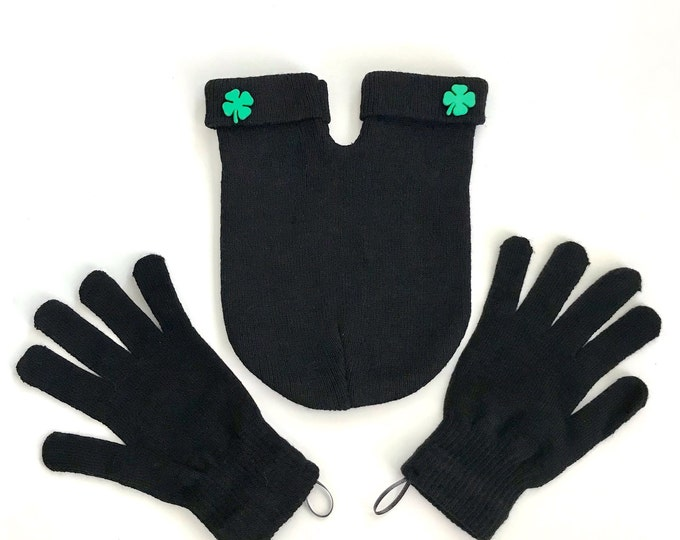 Shareable Lucky Shamrock Smitten Mitten set; the Perfect Romantic and Unique Gift for Couples on Saint Patricks Day!  One Size Fits All!