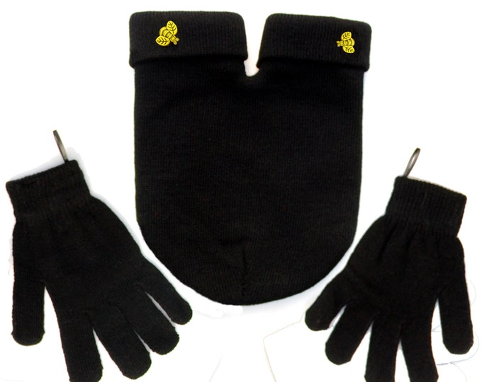 BEE Mine Couples Gloves Set, Perfect Gift for Happy Couples. Gloves and Smitten Card Included, feeling Smitten? Share your Mitten!