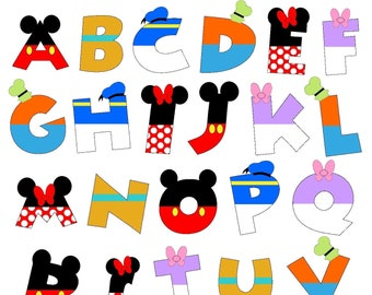 Mouse and Friends Alphabet PRINTABLE Letters