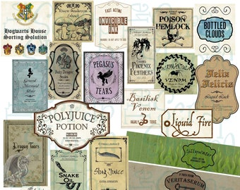 27 Wizard Inspired PRINTABLE Potion Labels