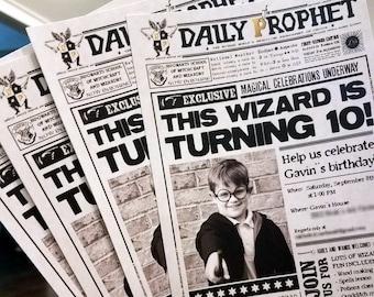 Wizard Inspired Custom PRINTABLE Birthday Invitation