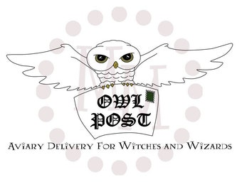 Wizard Inspired PRINTABLE/CUT FILE Owl Post