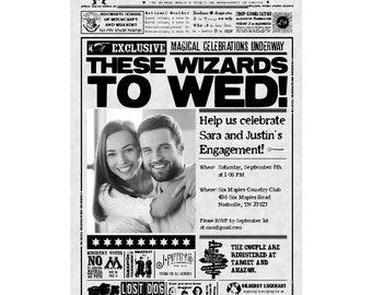 Wizard Inspired Custom PRINTABLE Wedding Shower Invitation
