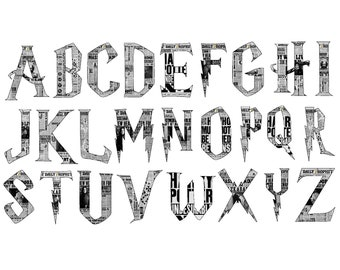 Wizard Inspired Newspaper PRINTABLE Letters