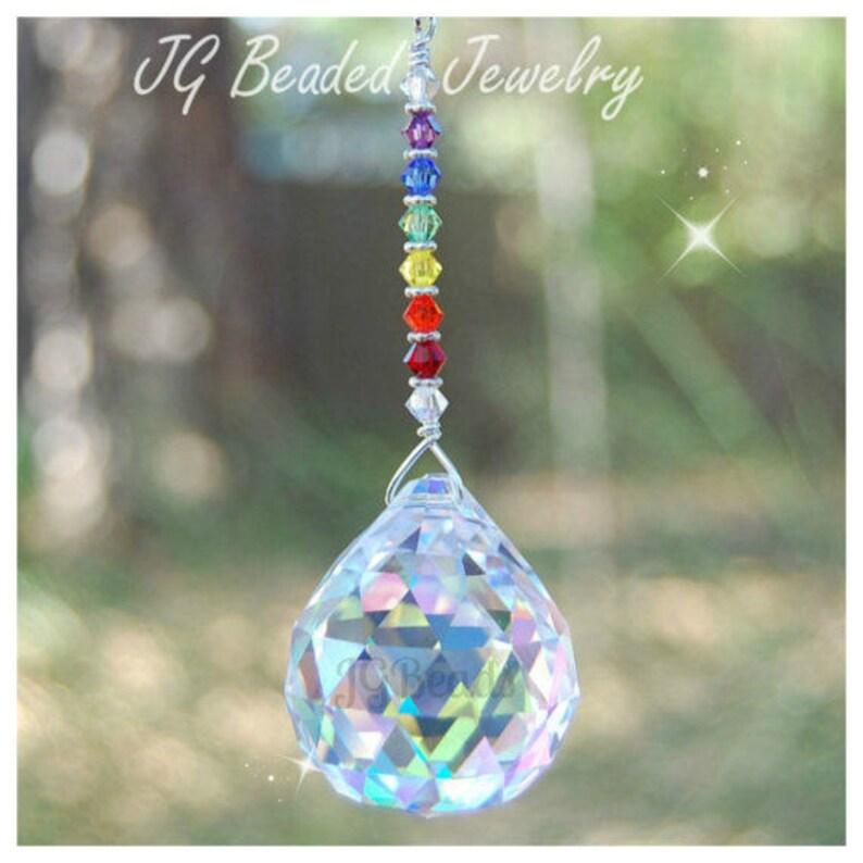 2cf06e2cc43f13 Swarovski Rainbow Prism Crystal Suncatcher Rearview Mirror | Etsy
