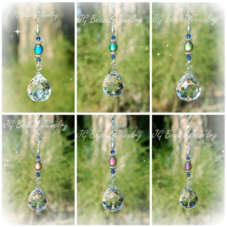 413b443cf8643f Color Changing Mood Bead Swarovski Crystal Car Charm Window | Etsy
