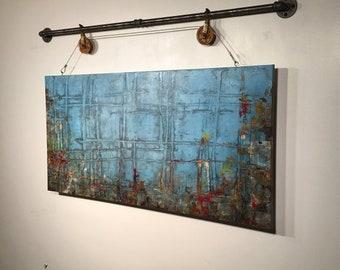 Art painting Jmjartstudio Original Painting 24 x 48 Inches ------- Rise Above -----
