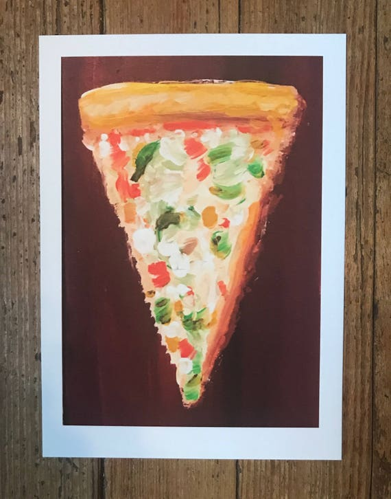 Veggie Pizza Slice Art Print