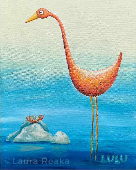 Crab and Crane (8x10 Art Print)