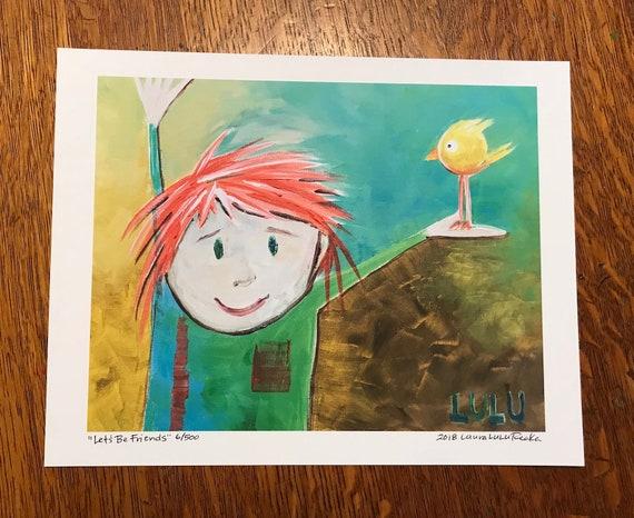 Let's Be Friends (8x10 Art Print)