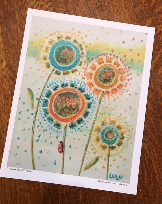 Flower Burst (11x14 Art Print)