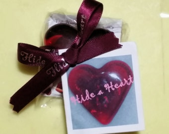Ruby Red Glass Heart #itsthelittethings