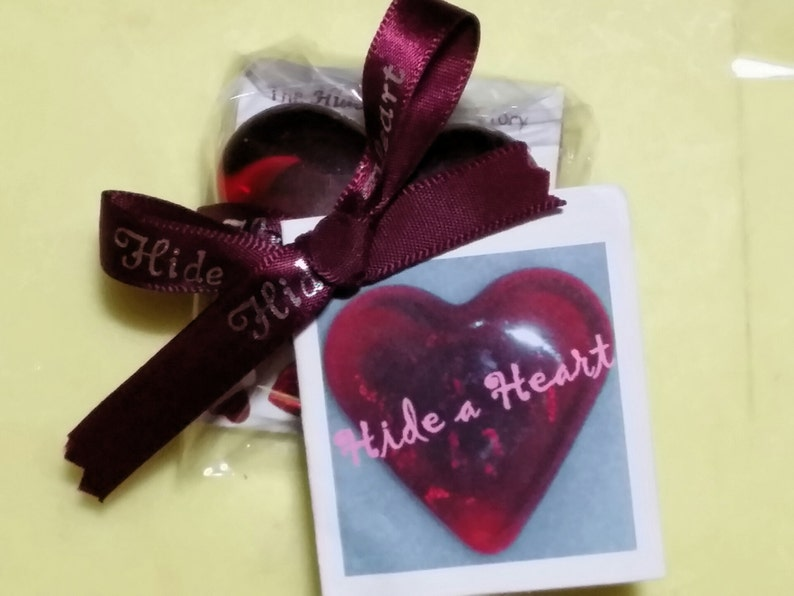 Ruby Red Glass Heart itsthelittethings image 0