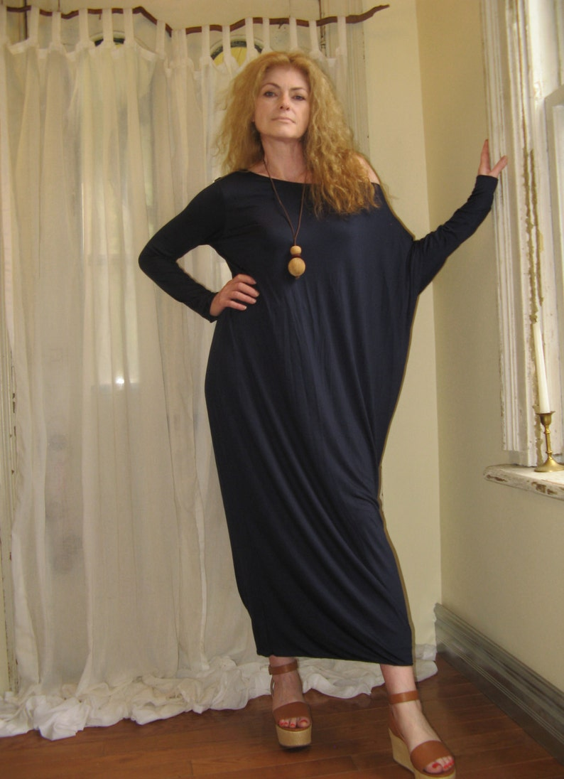 d61746b3c2784 Asymmetric Boho Dress Off Shoulder Long Loose Relaxed Fit | Etsy
