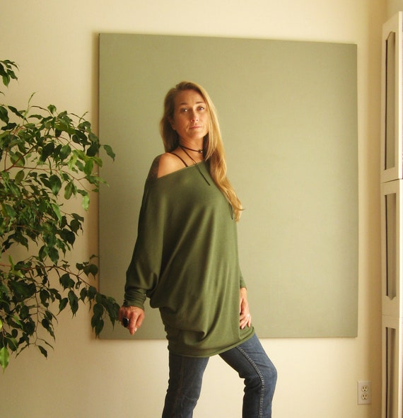 df10126f4ae NEW Off Shoulder Top Womens Plus Size Jumper Long Dolman Tunic