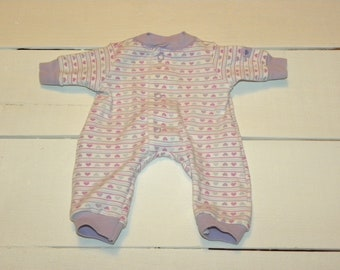 Heart Patterned Sleeper - 14 - 15 inch doll clothes