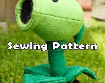 PDF DOWNLOAD Sewing Pattern Pea Shooting Plant in a Clay Pot