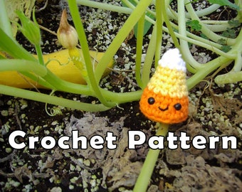PDF DOWNLOAD Crochet Patterm Cutie Candy Corn Amigurumi