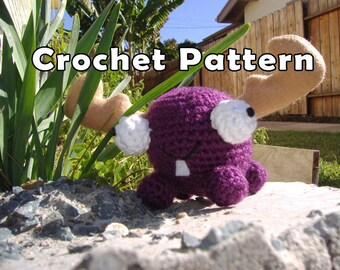PDF DOWNLOAD Crochet Pattern Mini Moose Amigurumi