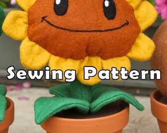 PDF DOWNLOAD Sewing Pattern Sunflower Plant in a Clay Pot