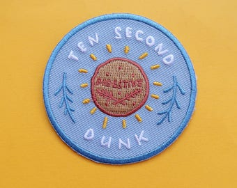 10 Second Dunk - Achievement Patch - Iron-On Embroidered Patch / Flair - Cookie Patch