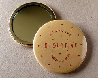 Digestive Biscuit Pocket Mirror