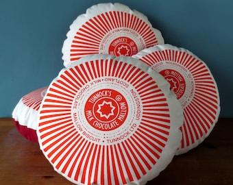 Tunnock's Teacake Printed Cushion / Biscuit Cushion - Cookie Pillow - Marshmallow Pillow