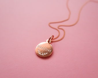 Itty Bitty Rose Gold Digestive Biscuit Necklace - Gold Plated Cookie Pendant
