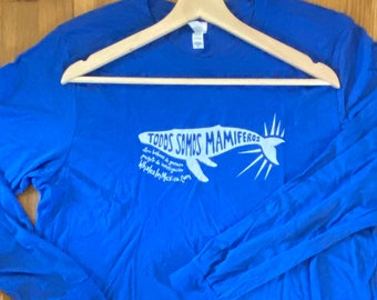 We're All Mammals Here   Todos Somos Mamiferos Whales of Guerrero Long Sleeved Shirt (SUPER SOFT)