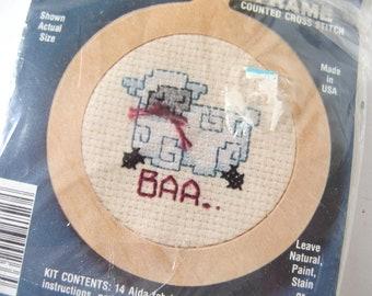 Vintage Stitch N Frame Baa Sheep Counted Cross Stitch Kit