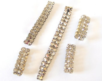 Double Row Rhinestone Pieces - Recycled