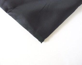 "Black Garment Lining, 2+ Yards 48"" Wide, Destash"