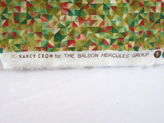 Cotton Fabric Nancy Crow Green Gold Stars BTY Quilts Craft Patchwork