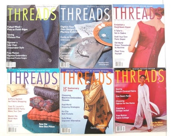 2000 Threads Magazines, No 87 to 92 with Index