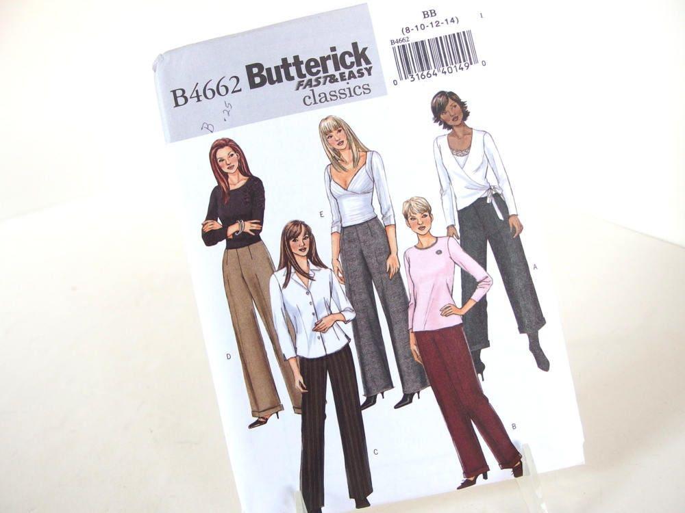 Sin cortar pantalones acampanados patrón de costura Butterick   Etsy