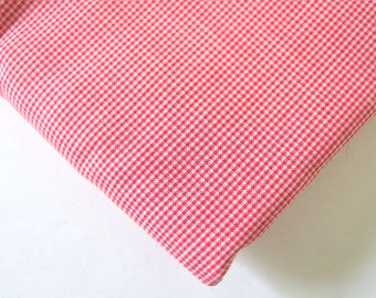 Red Homespun Woven Microplaid Cotton Fabric, 3 Yards, 44 Inches