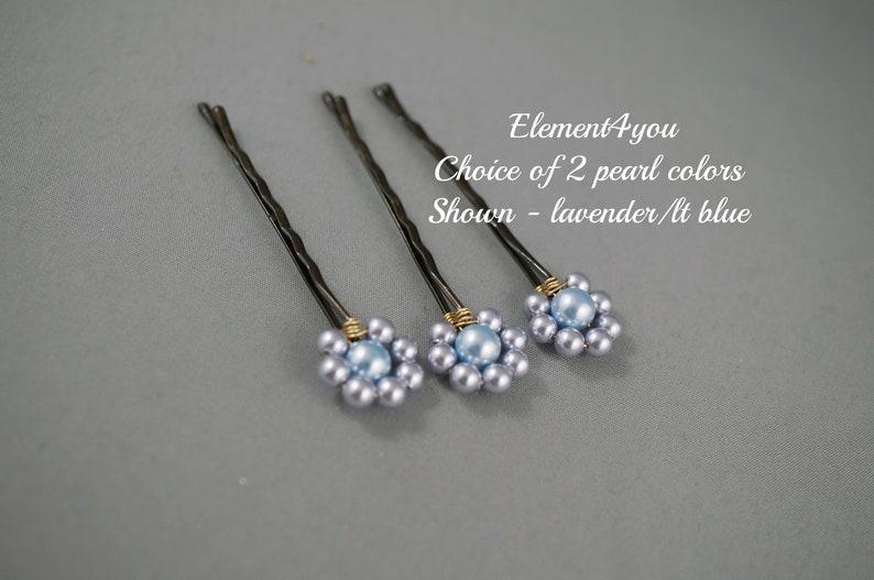 4d5db1b4e Pearl Bobby Pins Hair Accessories Swarovski Gold Brown Clips | Etsy