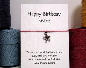 Happy Birthday Sister Wish Bracelet