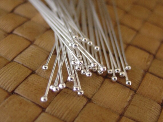 100 GoldPlated Brass Ball Pins 2 Inches Long Headpin with 1.5mm Ball Tip 23Gauge