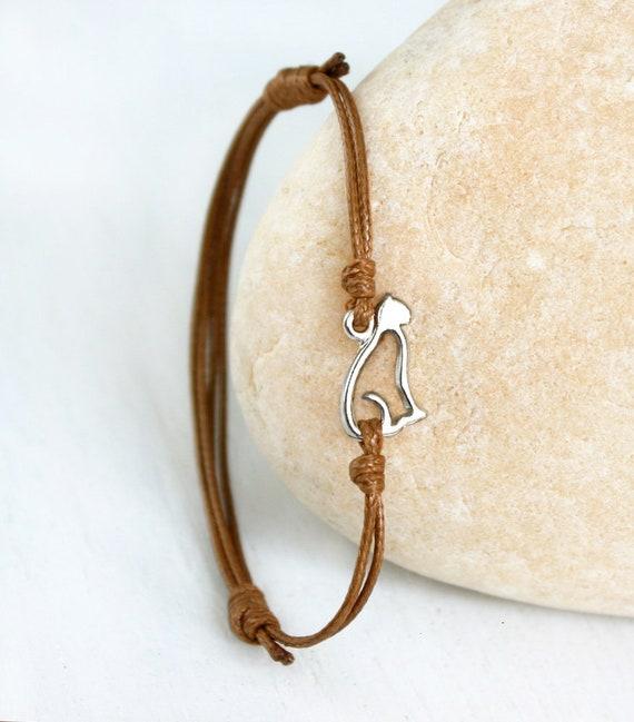 925 Sterling Silver Paw Print Charm Anklet Ankle Bracelet 25cm UK Seller Dog