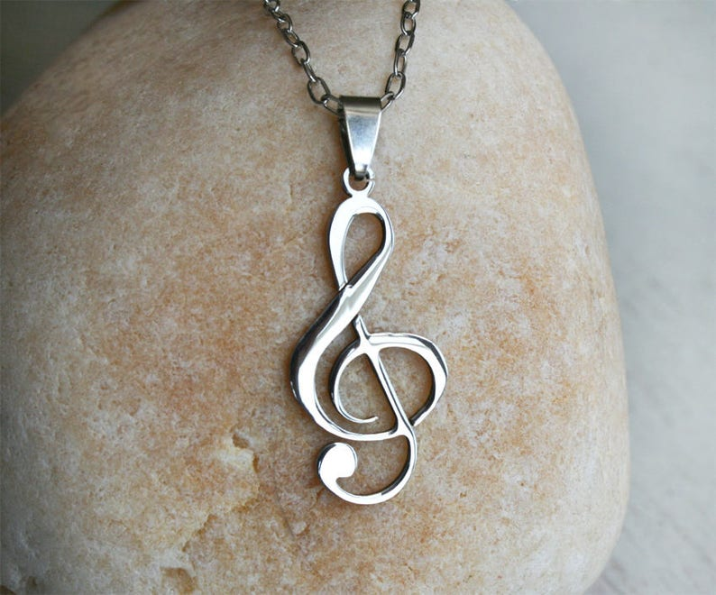 Music Necklace Music Notes Necklace